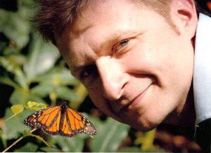 with a monarch